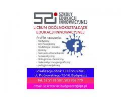 Liceum Ogólnokształcące Edukacji Innowacyjnej- ostatnie wolne miejsca