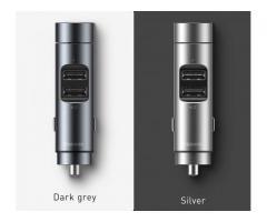 MINI Transmiter FM Bluetooth MP3 - Ładowarka USB
