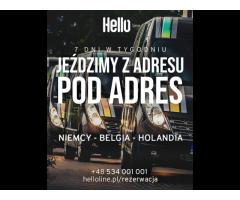 Przewóz osób i przesyłek na trasie Polska, Niemcy, Holandia i Belgia