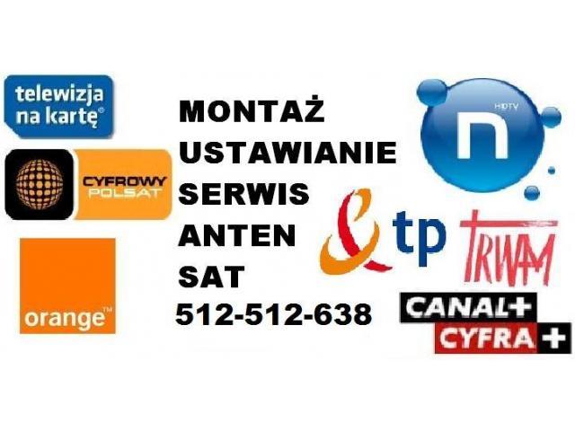Instalacje, montaż, ustawianie anten SAT, DVB-T, sieci wi-fi, kamery, dostrajanie dekoderów